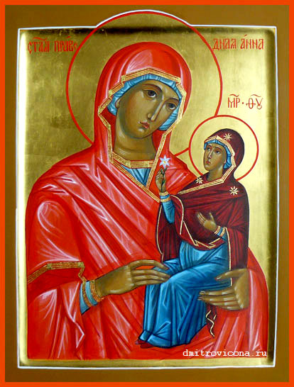 икона святой праведной анны: